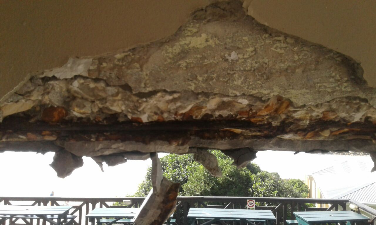 removing plaster and concrete spalling repair